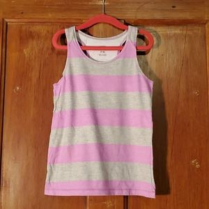 **5/$25** George Pink & Gray Tank Top  Size 7-8